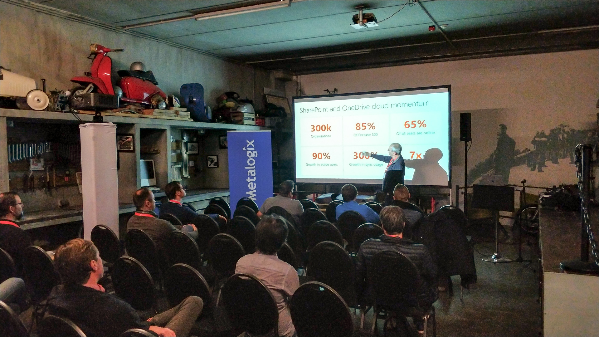 Hans Brender zeigt den aktuellen Stadt von OneDrive