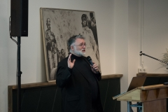 Mike Fitzmaurice hält seine Keynote.